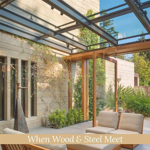 When Wood & Steel Meet! SomeInspiration PergolaKitsLebanon. Pergola ...