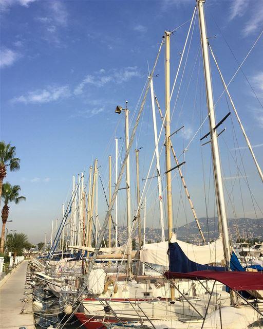 À toi @bernard8002 mast sailship voiliers bluesky boats livefolk ... (Lebanon)