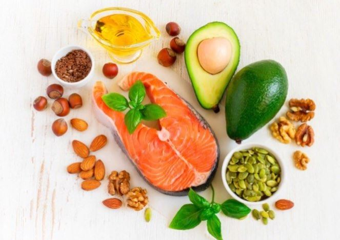 Sources of Good Fats- Avocado- Salmon- Olive Oil- Walnut , almond,...
