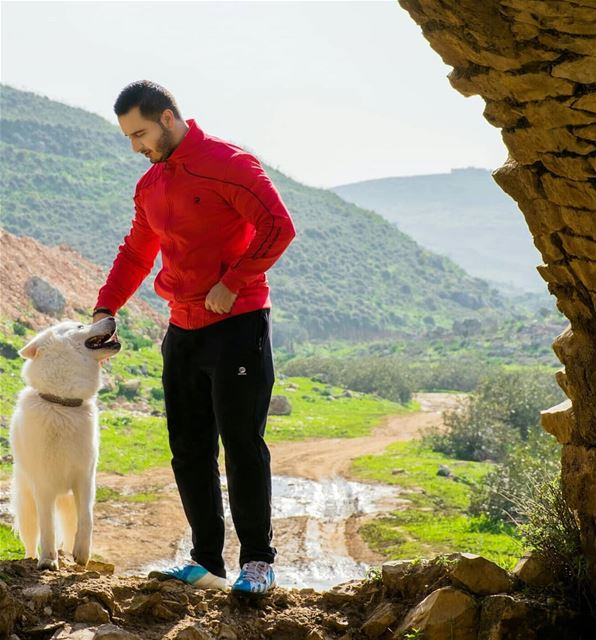 You know, a dog can snap you out of any kind of bad mood that you're in... (Houmeen El-Fauqa, Al Janub, Lebanon)