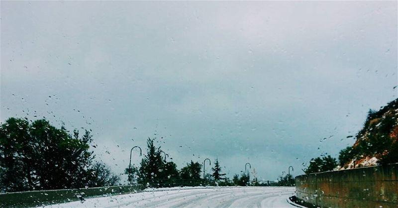 A snowflake is winter's butterfly❄❄❄❄❄❄🌨🌨🌨🌨🌨🌨🌨🌬🌬🌬🌬🌬🌬... (Saghbîne, Béqaa, Lebanon)