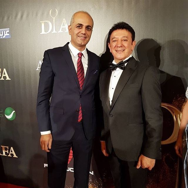 With Dr Michel Daher president of Diafa. diafa event dubai celebrity... (Atlantis The Palm)