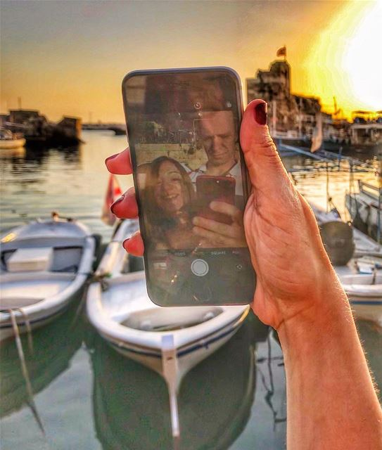 lavieaubel when you are watching the sunset 🌅 with your person 👫in one... (Byblos - Jbeil)