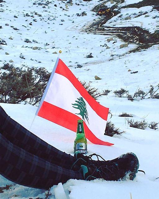Perfect ending ... 🇱🇧 💚❄️🌅🍺🙋♀️... keepdiscovering ...... (El Laklouk, Mont-Liban, Lebanon)