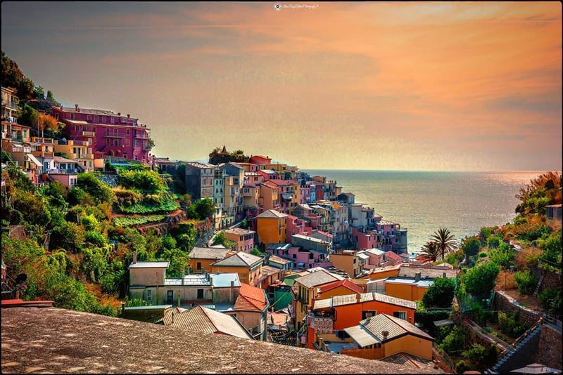 A composition at the golden hour in Manarola - Italy. landscape ... (Manarola)