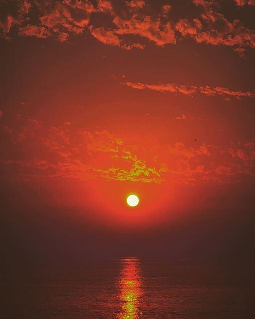 Red Velvet Sky 🌅 ———————————————————— red redvelvetsky sunset... (Sidon, Lebanon)