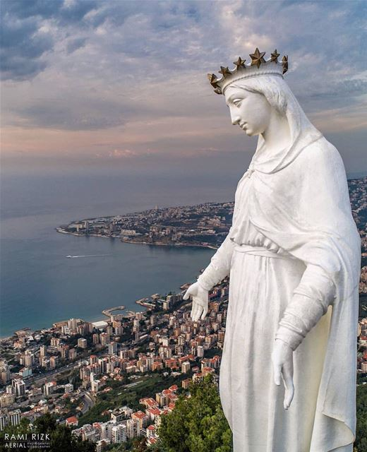 Have A Blessed Sunday 💙 .By @rami_rizk89 TheLadyOfLebanon Harissa ... (The Lady of Lebanon - Harissa)