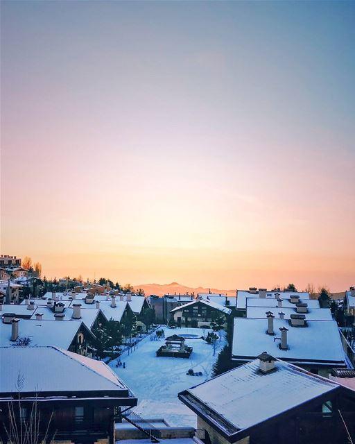 Winter wonderland ⚡❄️❤️ (Mzaar Kfardebian)