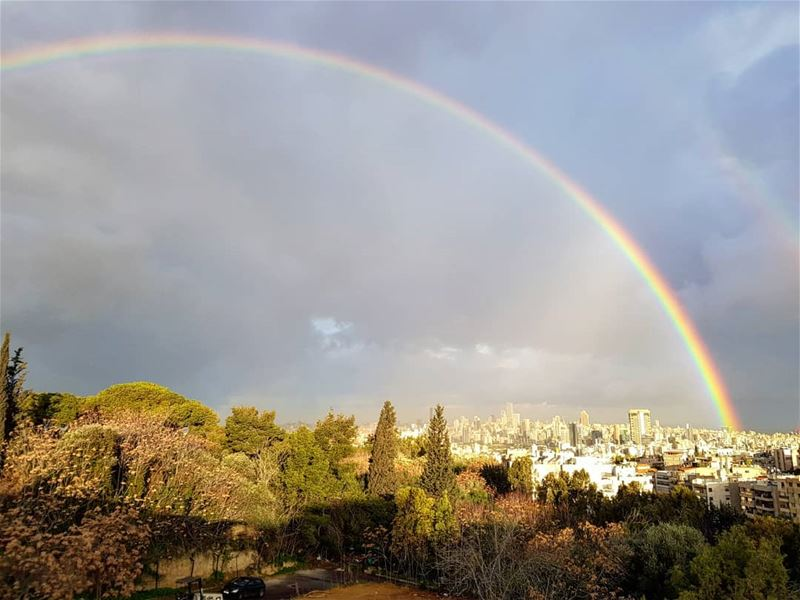 Morning rainbow ptk_lebanon wearelebanon lebanonspotlights ... (Hazmieh)
