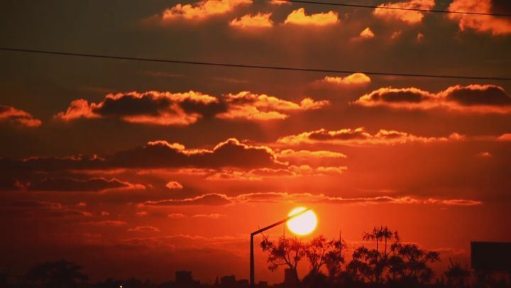 timelapse sunset lebanon tyre abbassieh ... (Abbassiyé, Al Janub, Lebanon)