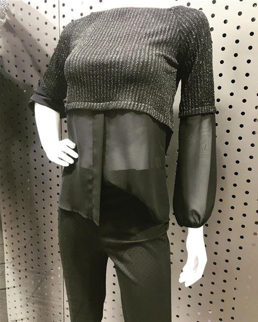 Black on black DailySketchLook 211 shopping italian boutique ... (Er Râbié, Mont-Liban, Lebanon)