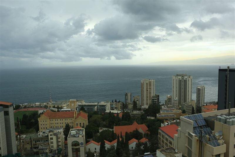 Clouds over beirutcity ... thisislebanon79 viewbug beartribeambassador... (Hamra, Beyrouth, Lebanon)