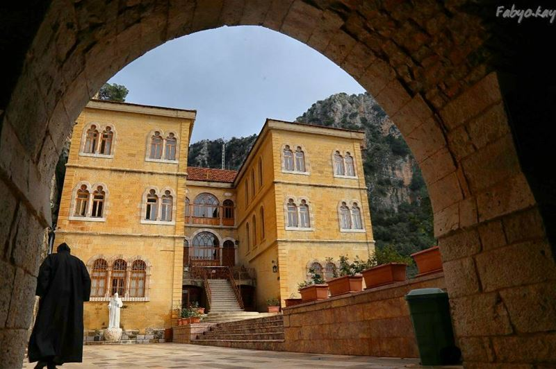 The first  monastery in the Lebanese maronite order... (Monastery of Qozhaya)