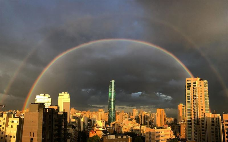 Somewhere over the rainbow(s). (Achrafieh, Lebanon)