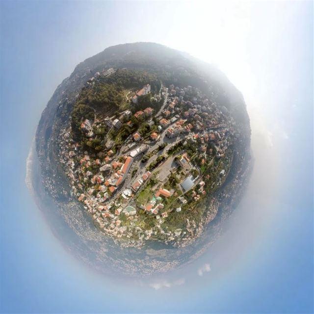"🌍 Bickfaya ""tiny planet"" mode 🌏 lebanon bickfaya tinyplanet ... (Bi Bickfaya)"