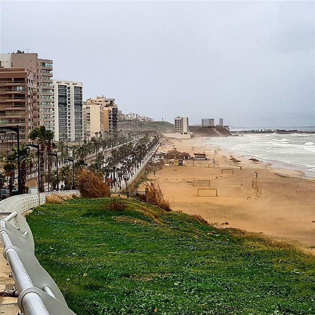 🇱🇧🇱🇧❤ rainyday seaside seashore beach amazinglebanon ... (Lebanon)