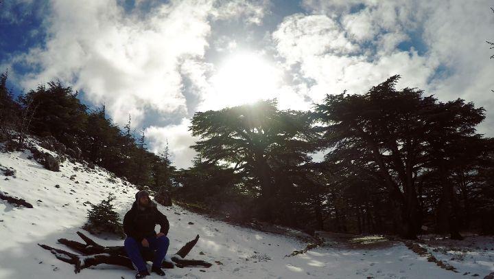 TimeLapse MovingClouds Barouk Cedars Lebanon ☁️🌲❄️... (Arz el Bâroûk)