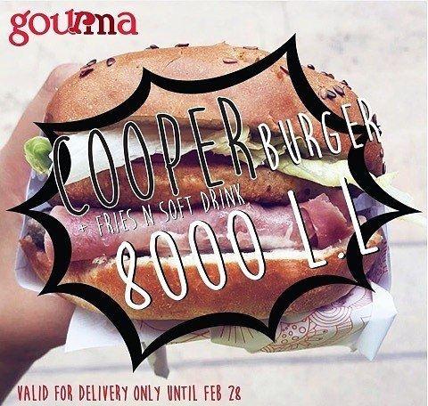 @gourmalb - P R O M O ‼️Cooper Burger 🍔 + Fries 🍟 n' Soft Drink 🥤For... (Gourma)