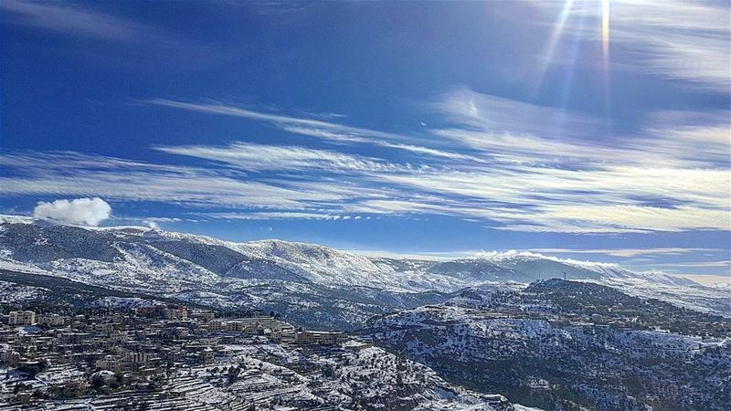 sky snow clouds art photography oycaptures nikon mountain lebanon... (Ain Dara)