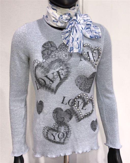 Italian sweater and a Local silk scarf DailySketchLook 214 shopping ... (El Mtaïleb, Mont-Liban, Lebanon)