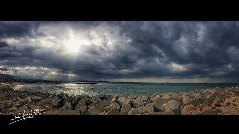 dbayeh lebanon beirut beiruth lebanon لبنان sea sky clouds sun ...