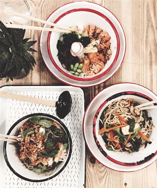 Favorite Asian food in town! Vietnamese salad x Salmon Poke x Noodles 🔥... (DON)