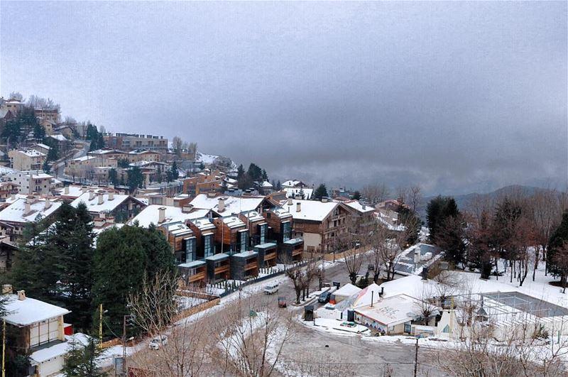 Beautifully Cold 💙❄️💙.......... lebanon lebanon_hdr ... (Mzaar Kfardebian)