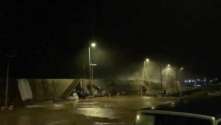 Mina el Batroun in the stormالعاصفة في ميناء البترون Video taken by @stev (Batroûn)