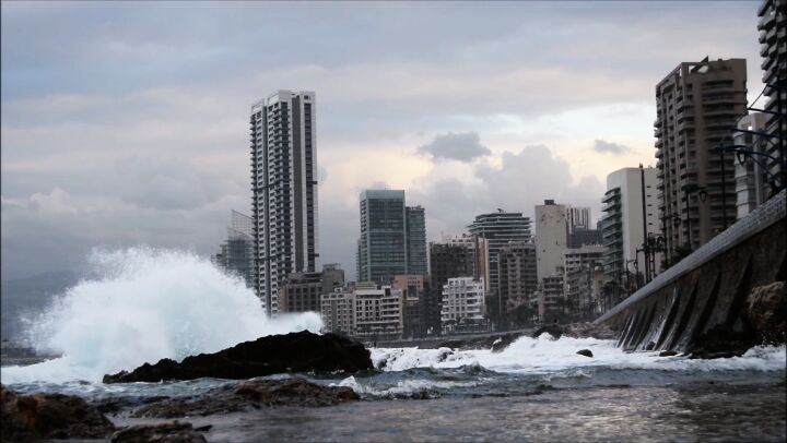 Power of nature... sea storm lebanon manara beirut livelovebeirut ...