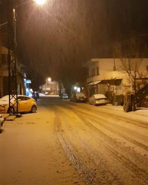 About last night 🌧🌨❄❄ faraya winter snow ski storm winterseason ... (Faraya, Mont-Liban, Lebanon)