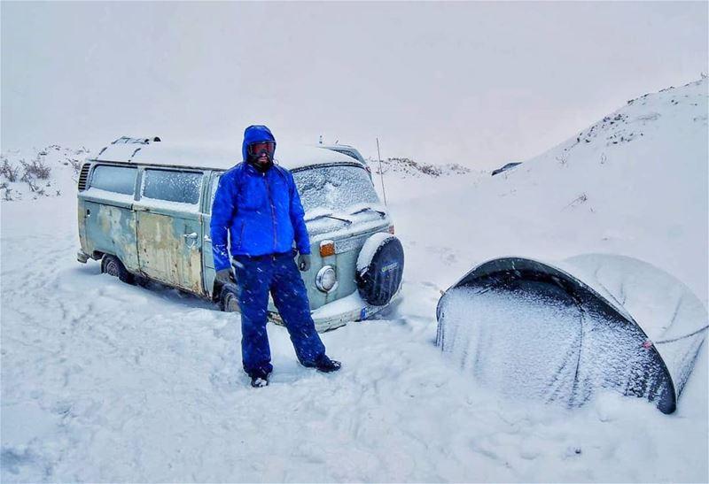 Heaven doesn't have to be tropical.❄️💙.. snowflake moutainscape ... (Kfardebian,Mount Lebanon,Lebanon)
