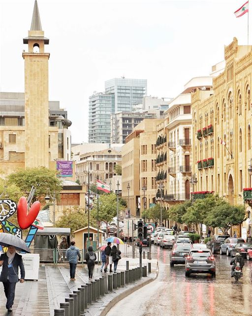 Another rainy day...☔️Morning igers.By @buddcorp DowntownBeirut ... (Downtown Beirut)