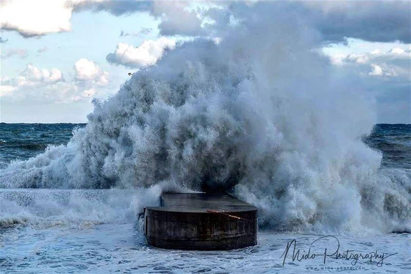 Today's storm einelmreiseh beirut lebanon midophotography ... (Ein El Mreissi)