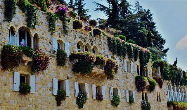 lebanon architecture love life beauty sky blue green nature ... (Brummana)