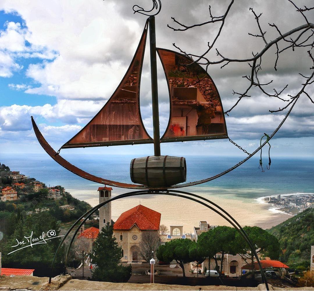 ghosta lebanon keserwan instagram boat church sea seaview ...