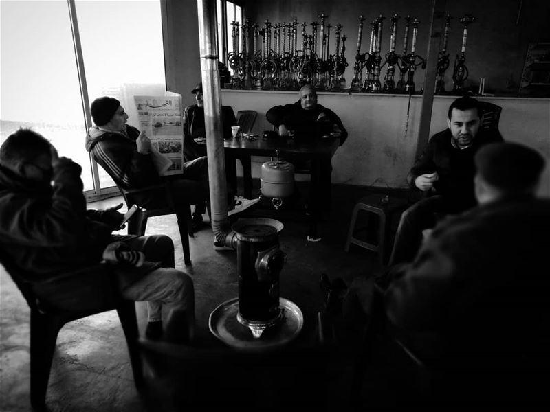 Una mañana en la cafetería - ichalhoub in Tripoli north Lebanon...