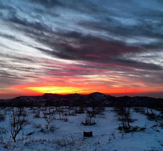 sunset sundayout ptk_sky snow whitemountains sunset_ig ...