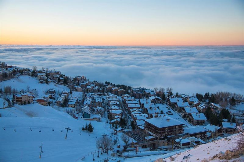 Neighbours of the clouds...from mzar peak faraya lebanon ...
