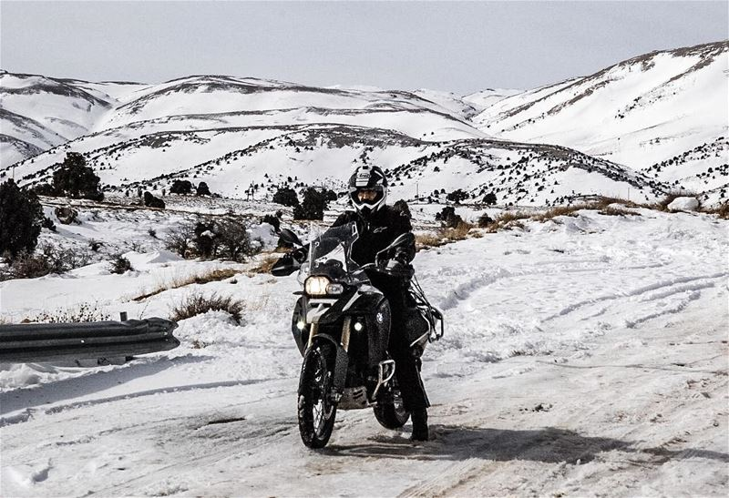 Snow ride...... gsadventure adventure adventuretime ... (Hadeth Baalbek, Béqaa, Lebanon)