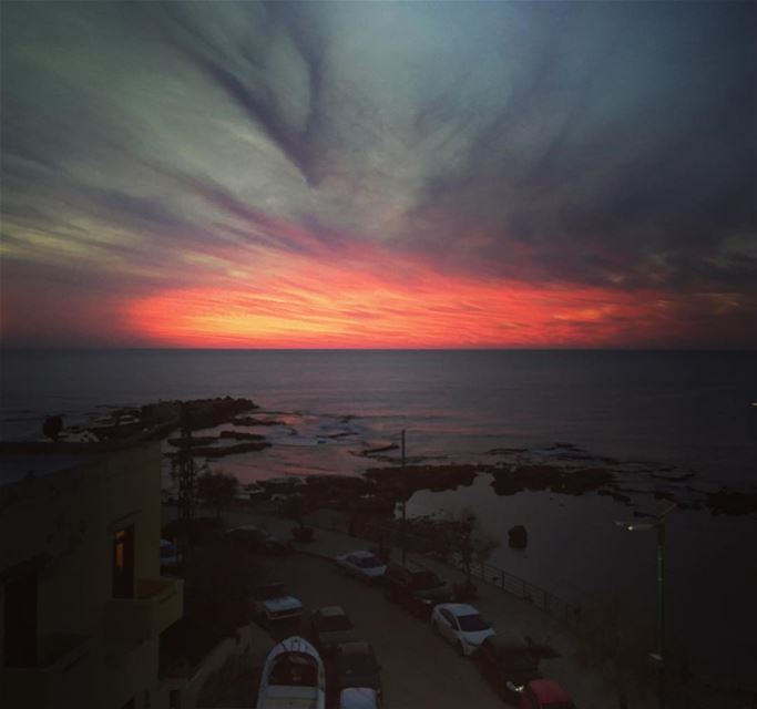 Another cheese sunset from the terrace mediterranean southlebanon tyre... (Tyre, Lebanon)