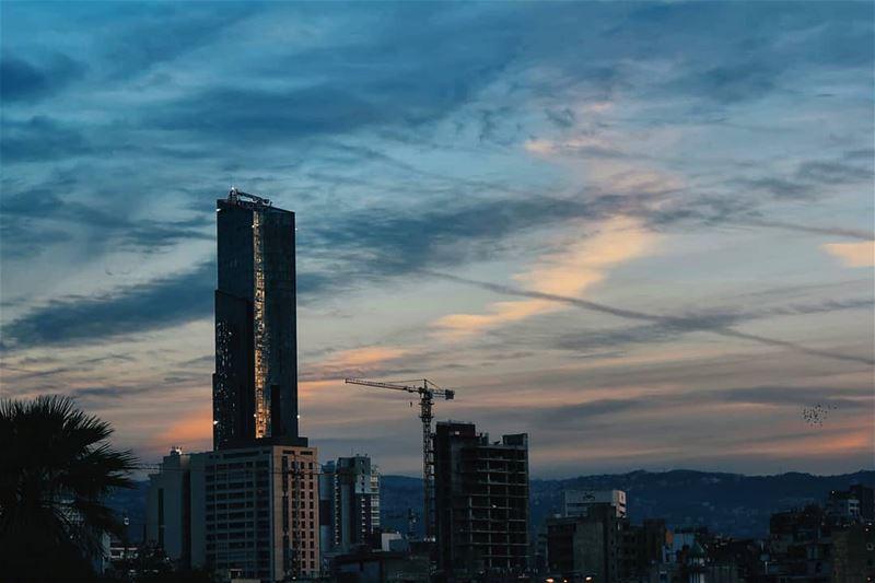 Beirut 💙•••• lebanon sky clouds cloudstagram cloudporn natureshot... (Beirut, Lebanon)