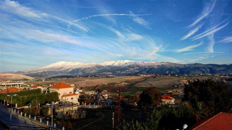 |·A·MASTERPIECE·|☁☁ neverboredofthisview winter2k18 sundaypost @livelo (Marjayoûn, Al Janub, Lebanon)