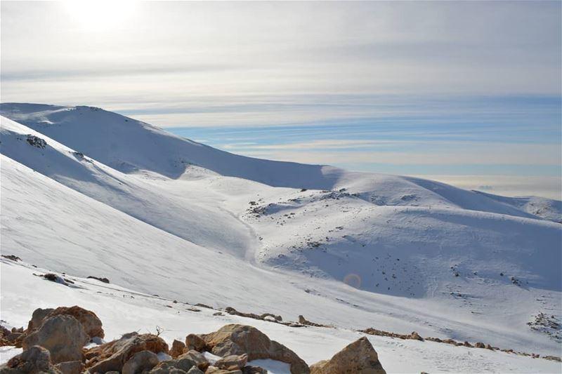 Adjust your altitude! ❄❄❄☃⛄ blue frozen mountain hiking ... (Kfardebian,Mount Lebanon,Lebanon)