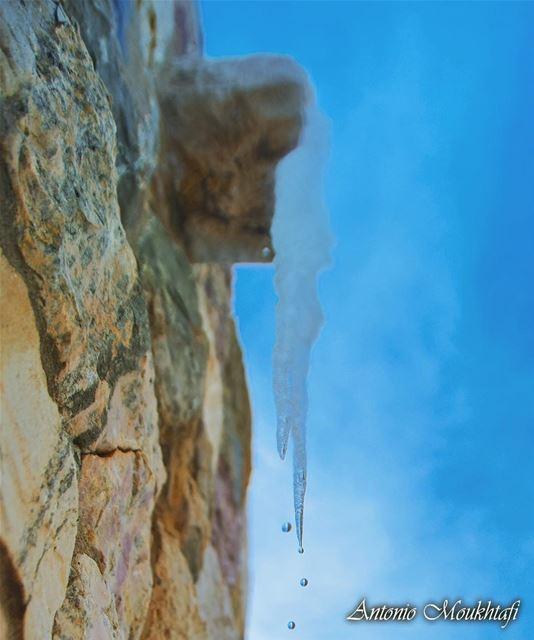 Water Drops Ice.. icicles water drops ehden horshehden sky ... (Horsh Ehden)