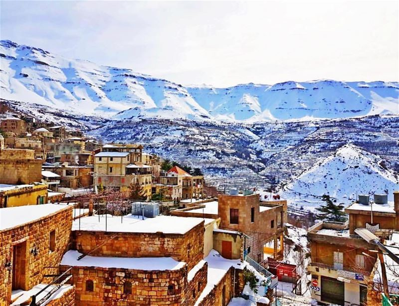 bekaakafra winter livelovelebanon travelphotography travelblogger ... (Bekaa Kafra)