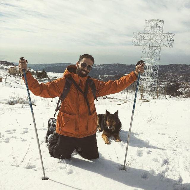Accept everything witharmswideopen dodger_thedog livelovelebanon... (Qanat Bakish, Mont-Liban, Lebanon)