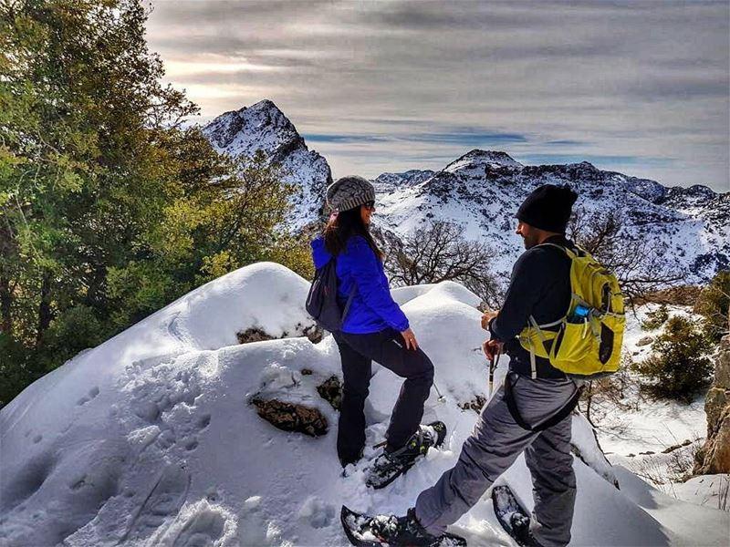 Walking in a winterwonderland ❄📷 @pamchemali theoneandonly ......... (Arz Tannoûrîne)