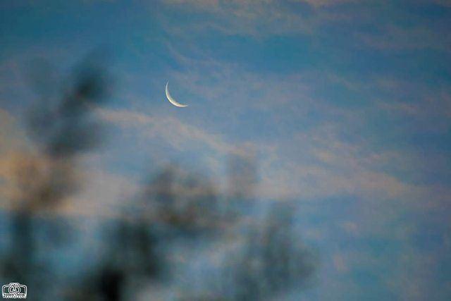 تصبحون على ألف خير moon crescentmoon crescent dawn lebanon ...