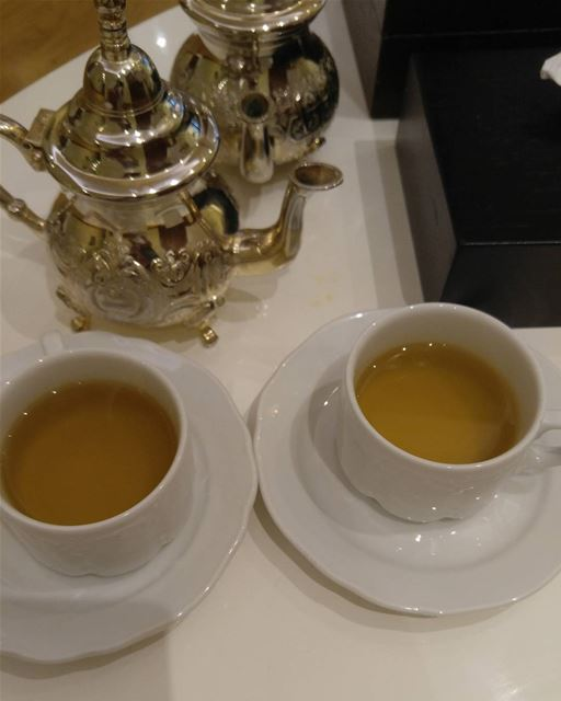Start ur day with greentea antioxidant healthydrink goodmorning ... (Hilton Beirut Habtoor Grand)