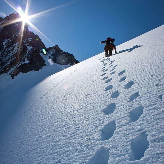 roadtoheaven snowshoeing sunnyday ... (El Laklouk, Mont-Liban, Lebanon)